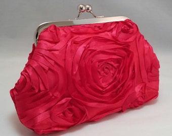 Ribbon Embellished...clasp purse