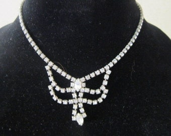 Antique Art Deco Rhinestone Ladies Necklace