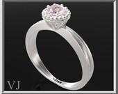 Rose Quartz Engagement Ring,Solitaire Engagement Ring,Unique Engagement Ring,Rose Quartz,Silver Engagement Ring,925 Sterling Silver,Bridal