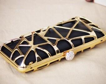 hollow purse frame,Box purse frame for dressing case,Bridesmaid Purse Frame,square clutch frame  7 1/2x3 1/2inch,200-531