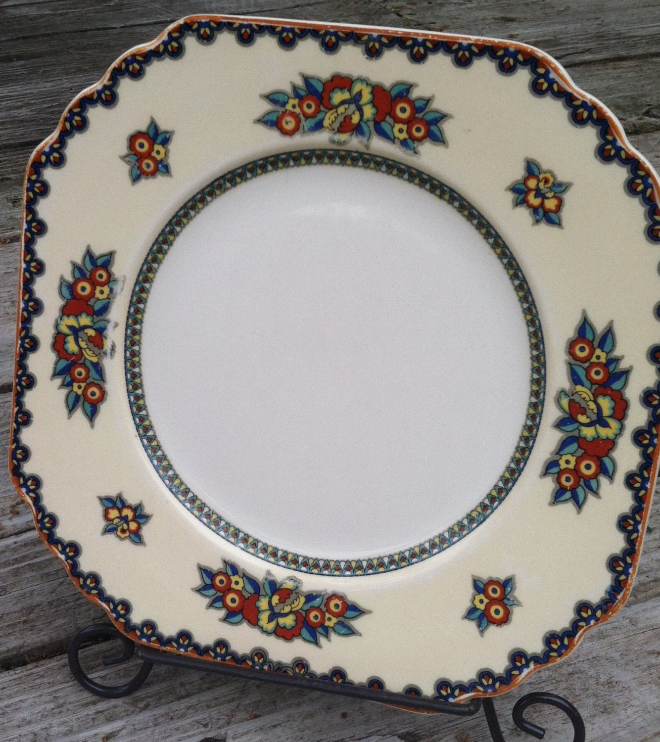 Vintage wedgewood china plate manchu pattern made in england Wedgewood designs
