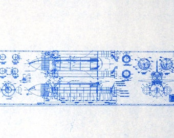 USA Space Shuttle Blueprint