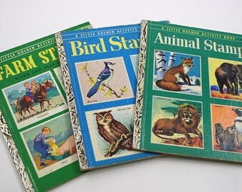 1950s Golden Book Collection - Stamp Books