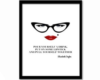 Inspirational Quote, Wall Art for Women, Sassy Quote, Quote Poster, Gift for Girl, Home Decor, Fashion Poster