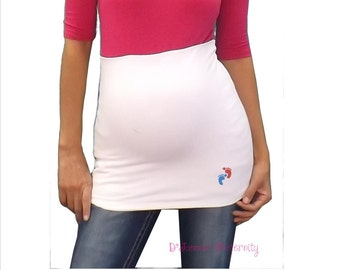 Maternity Belly band   with  saying and footprints