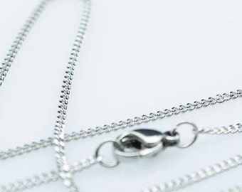 20pcs 16inch 1.5mm 316L stainless steel thin NK necklace fine lady's fashion Jewelry