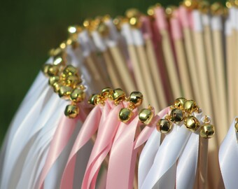 125 Wedding Ribbon Wands with bells - Party streamers - Party Decorations Wedding Decoration Ceremony