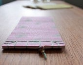 NOTEBOOK, japanese stab binding, pink, fuchsia, mint, europeanstreetteam, gold, bead, sosteam, salesteam, handmadezauber