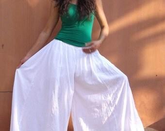 Bell Bottom Pants ...Wide Legged Pants .....Flared Pants ...Color White