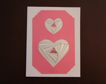 Iris Folded Heart Card