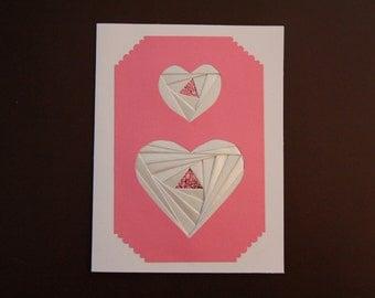 Iris Folded Heart Card