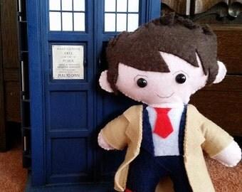10th Doctor Who inspired  felt plushie David Tennant