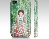 iPhone Case,Angel Iphone case,Whimsical art iPhone Case,iPhone 4,5,6and 4s Accessory