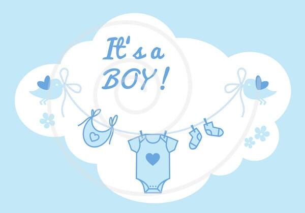 New Baby Clip Art It S A Girl It S A Boy Blue And Pink