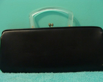 Vintage Lucite Handle Purse