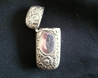 1876-1885 Gorham Co Silver Match Safe Vesta with Repousse Sea Creature Design