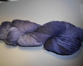 Hand Dyed Fingering Weight Sock Yarn 3 Ply, Cheviot Wool Mohair 80/20 Blues
