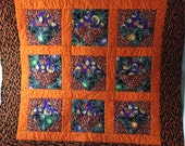 Halloween Banner, Halloween Quilt, Holds Candy, Decoration, Halloween Wall
