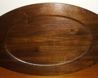Vintage Walnut Tray, Genuine Walnut Tray, Mid Century Walnut Tray