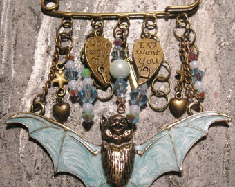 Brooch - Going Batty over You!