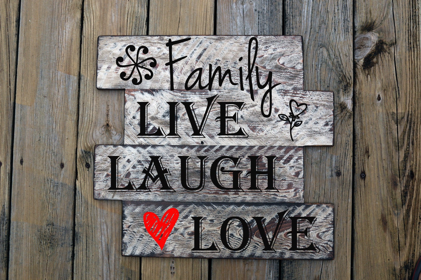 Family live laugh love home decor custom vinyl wall art for Live laugh love wall art