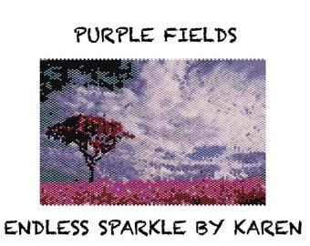 Purple Fields Peyote Tapestry