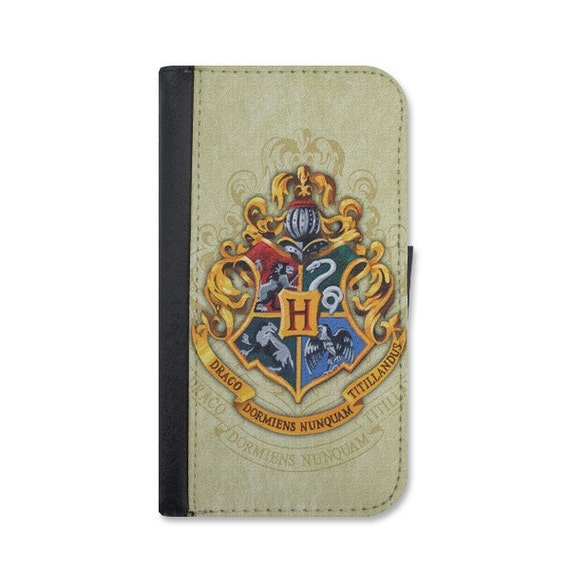 Hogwarts School Of Wizardry Wallet Case Choose iPhone 4/4s, 5/5s, or 5c.