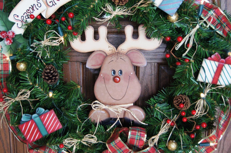 welcome christmas wreath on - photo #30