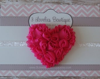 Valentine's Day Headband-Newborn Headband-Baby Girl Headband-Baby Headband-Baby-Baby Girl-Baby Headbands-Infant Headband