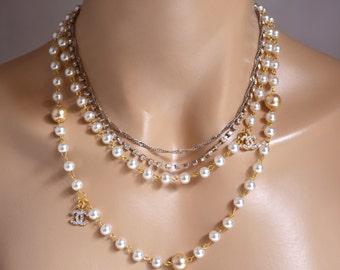 Wedding Bridal Jewelry, Bridal Pearl Necklace, Brides Bridesmaids, Wedding Pearl Necklace, Pearl Necklace, Ivory Pearl Necklace
