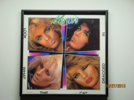 Glittered Record Album - Poison - Look What The Cat Dragged In
