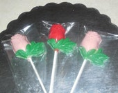 Chocolate Rose lollipops