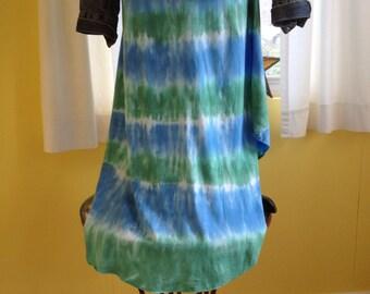 Tie dye maxi skirt, Tie dye midi skirt, Hand dyed skirt, Groovy skirt, Cotton tie dye skirt