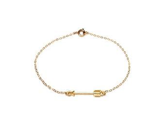 Vermeil Thin Arrow Bracelet, Gold Bracelet, Dainty Bracelet, Minimalist, Boho