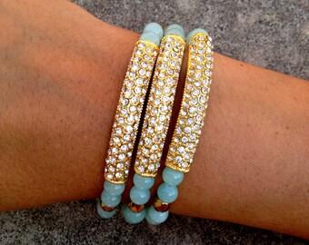 Crystal Bar Bracelet Set!