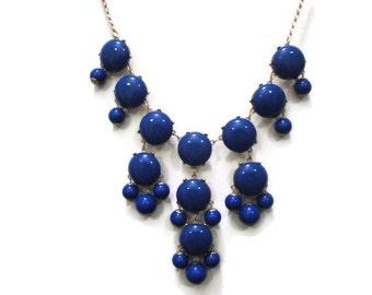 Blue Bubble Necklace, Bib Necklace, Bib Statement Necklace, Blue Bubble Necklace, J Crew Inspired, J Crew Jewelry,