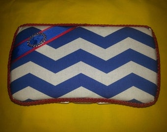 Personalized Red, White & Blue Diaper Wipe Case