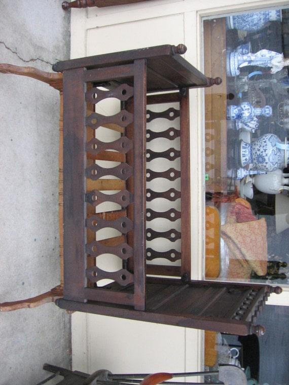 Antique Victorian Eastlake Rocking Platform Crib Or Cradle