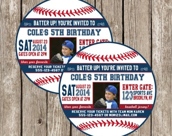 Baseball Photo Invitation - Baseball Birthday Party Invitation - Boy Birthday Party - DIY Printable