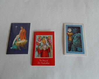 Vintage Religious Booklets/Lot