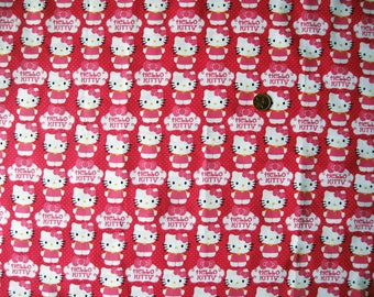 "Hello Kitty print Fabric - Fat Quarter  18""  x 22"""