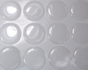 100 pcs 1 inch Epoxy Stickers, Epoxy domes, Epoxy resin dots for Bottle Cap Jewelry making Craft