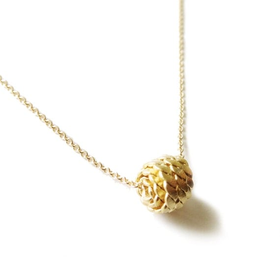 Dainty Nautical Ball Necklace