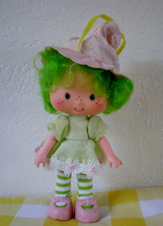 Vintage American Greetings Strawberry Shortcake Lime Chiffon Doll 5 ...