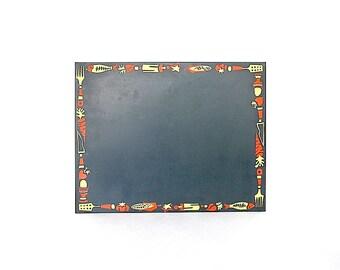 Magnetic Bulletin Board - Vintage Kitchen Decor - Magnetic Board - Message Board - Kitchen Wall Decor - Memo Board - Maggie Board - Prop