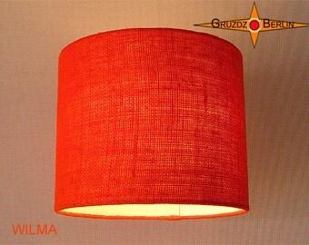 Orange lamp shade jute WILMA Ø25 cm burlap lamp orange