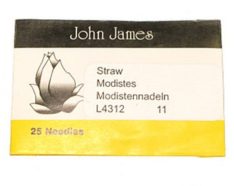 Millners' Straw #11 Needles 25 Pack