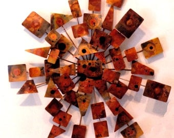 Radial Copper Wall Abstract