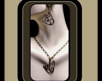 "Shop ""sign language jewelry"" in Earrings"