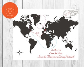 Save The Date Map Card